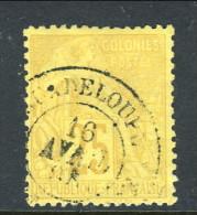 Colonie Francesi, Emissioni Generali 1881 N. 53 C. 25 Giallo Bistro Annullo  Guadeloupe - Alphee Dubois