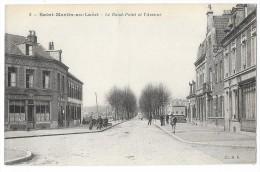 Cpa: 62 SAINT MARTIN AU LAERT - Le Rond Point Et L'Avenue (Estaminet Des Francs Tireurs) N° 2 - Autres Communes