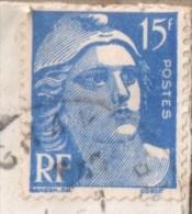 15 Fr  Manque Partie Signature - Curiosities: 1950-59 Covers & Documents