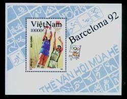 Vietnam Viet Nam MNH Perf Souvenir Sheet 1992 :Summer Olympic Games Barcelona / Basketball (Ms639B) - Vietnam