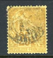 Colonie Francesi, Emissioni Generali 1881 N. 53 C. 25 Giallo Bistro Annullo Da Decifrare - Alphee Dubois
