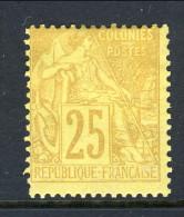 Colonie Francesi, Emissioni Generali 1881 N. 53 C. 25 Giallo Bistro MH - Alphee Dubois