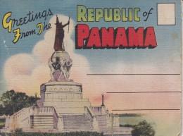 GREETINGS FROM PANAMA - LIBRITO POSTAL CON 18 IMÁGENES DE PANAMA - Panamá