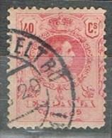 Sello 40 Cts Alfonso XIII Medallon, Fechador VILLANUEVA I GELTRU (barcelona), Num 276 º - 1889-1931 Reino: Alfonso XIII
