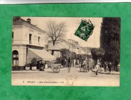 Melun Quai Alsace-Lorraine (Café De La Seine Et Des Sports Salles Réunions - Attelage Bicyclette) Envoi En 1909 - Melun