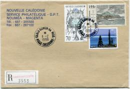 NOUVELLE-CALEDONIE LETTRE RECOMMANDEE AVEC OBLITERATION KAALA-GOMEN-AN. MOB. 11-2-1999 - Cartas