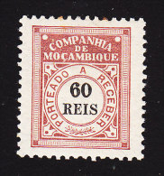 Mozambique Company, Scott #J6, Mint Hinged, Postage Due, Issued 1906 - Mozambique
