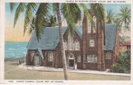 1168 POSTAL DE PANAMA DE CHRIST CHURCH EN COLON   ( I.L. MADURO) IGLESIA DE NUESTRO SEÑOR - Panamá