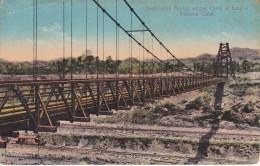 POSTAL DE PANAMA DE SUSPENSION BRIDGE ACROSS CANAL AT EMPIRE   ( I.L. MADURO) - Panamá