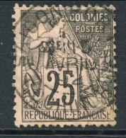 Colonie Francesi, Emissioni Generali 1881 N. 54 C. 25 Nero Su Rosa Annullo Saigon Port - Cochinchine - Alphee Dubois