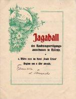 SLOVENIJA, JAGABALL, KOČEVJE, LOVSKI PLES L. 1922 - Advertising