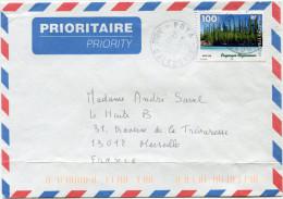 NOUVELLE-CALEDONIE LETTRE PAR AVION DEPART POYA 15-12-1998 AVEC ERREUR Nle CALEDONIE AU LIEU DE Nlle CALEDONIE - Cartas