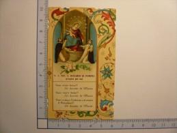 Santino Image Pieuse Holy Card - N. S. Del S. Rosario Di Pompei - Images Religieuses