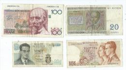 Lot De 4  Billets  Belge -  (2 Scans)- - Other