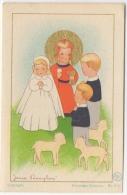 Faire-parts. Image Religieuse. Illustrateur. J.Pennyless. Gand 1950. - Naissance & Baptême