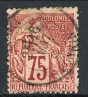 Colonie Francesi, Emissioni Generali 1881 N. 58 C. 75 Rosa Annullo Hanoi Tonkin - Alphee Dubois