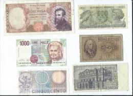 Lot De 9 Billets  Italie -  (4 Scans)- - Autres