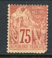 Colonie Francesi, Emissioni Generali 1881 N. 58 C. 75 Rosa MH - Alphee Dubois
