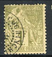 Colonie Francesi, Emissioni Generali 1881 N. 59 Fr 1 Oliva Annullo Cochinchine, Molto Molto Bello, Firmato Diena - Alphee Dubois