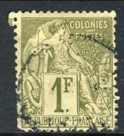 Colonie Francesi, Emissioni Generali 1881 N. 59 Fr 1 Oliva Usato - Alphee Dubois