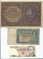 Lot De 10 Billets  Pologne  -  (4 Scans)- - Polonia
