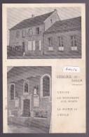 GUEBLANGE LES SARRALBE : église Monument Aux Morts Mairie école Cachet Facteur Receveur Du 24-8-1939 (57-4) 2 Scan - Other Municipalities