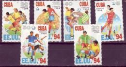 CUBA  N° 3345/50  * *   Cup 1994  Football Soccer Fussball - 1994 – Stati Uniti