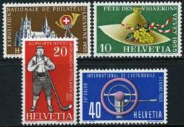 Switzerland #351-54 Mint Never Hinged Set From 1955 - Zwitserland