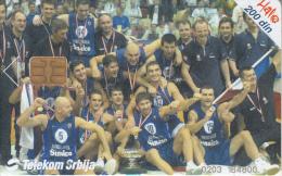 SERBIA - Jugoslavija National Basketball Team, Telecom Srbija 200 Din, 08/02, Used - Jugoslavia