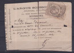 Fiscaal Document Frankrijk 1883  Kaart 397 - Timbres
