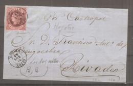 Frontal De Carta Con Matasello  Gijon 1868 Direccion Rivadeo - Covers & Documents