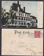A0552 USA 1906, Postcard Of J Rockefeller's Residence, Cleveland To England - United States