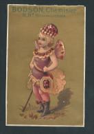 L2443 - Chromo Litho - BODSON Chemisier Paris - Rubis ( Enfant Papillon ) - Autres