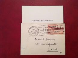 Bimillénaire De Lyon + Flamme Paris Sur Le Bois - Marcophilie (Lettres)