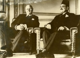 Egypte Le Caire Sir Miles Lampson & Moustapha El-Nahhas Pacha Ancienne Photo 1942 - Africa