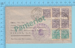 Bresil Brasil ( 1942, Cover  Cachet Correios E Telegrafos..., To Mexico, Marcophilie ) 2 Scans - Brésil