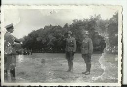 A433  --  DEUTSCHLAND  -  WW2  --  ORIGINAL PHOTO   --  MAJOR GERKE , OBERLEUTNANT  ???   WEHRMACHT - 1939-45