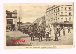Einzug Des Deutschen Landsturms In Lüttich - German Soldaten - Guerre 1915 - Guerre 1914-18