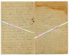 14-18 / 2 CORRESPONDANCES / 17e RI ( EPINAL / LYON )/ AOUT 1914 / CAPITAINE EMILE VINCENT ?? 17e REGIMENT D' INFANTERIE - War 1914-18