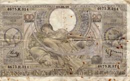 100 Francs Ou 20 Belgas - 29.08.38  - 4675.R.314  - 116866314 - [ 2] 1831-... : Regno Del Belgio