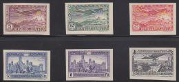 Spain 1931 Airmail Set Of 6 Imperforates. Scott C62-7. - Nuevos & Fijasellos