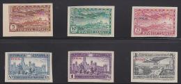Spain 1931 Airmail Officials Set Of 6 Imperforates. Scott CO1-6. - Nuevos & Fijasellos