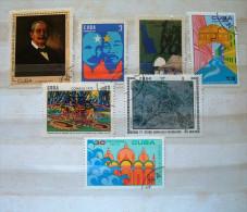 Cuba 1971 - 1972 - Paintings Vietnam UNESCO Venezia Hydrology - Cartas