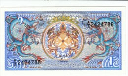 Bhutan #12 1 Ngultrum 1986 Banknote Currency Money - Bhutan