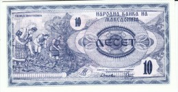 Macedonia #1 10 Denar 1992 Banknote Currency Money - Macedonia