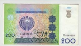 Uzbekistan #80 200 Sum 1997 Banknote Currency Money - Uzbekistan