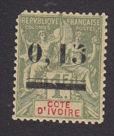 Ivory Coast, Scott #20, Mint Hinged, Navigation And Commerce, Issued 1904 - Côte-d'Ivoire (1892-1944)
