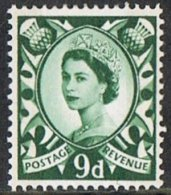 Scotland SG S4 9d Phosphor Mounted Mint - Regional Issues