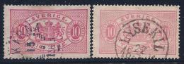 Sweden, Scott # O17, O17b Used Officials, 1895,1985 - Service