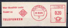 Germany Deutschland 1965 Telefunken, TV Radio, Stuttgart - Sin Clasificación